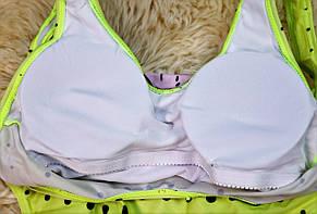 Купальник відрядний лимонний з принтом дівчина в окулярах, фото 2