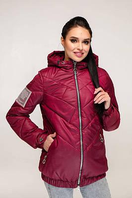 Демісезонна темно-червона куртка