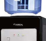 Кулер для води Lexical LWD-6002 настільний компресорний охолодження/нагрів 550W/90W чорний, фото 3