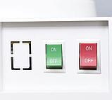 Кулер для води Lexical підлоговий компресорний охолодження/нагрів 550W/90W білий, фото 3