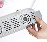 Кулер для води Lexical підлоговий компресорний охолодження/нагрів 550W/90W білий, фото 4