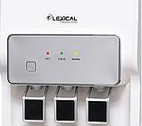 Кулер для води Lexical підлоговий компресорний охолодження/нагрів 550W/90W білий, фото 5