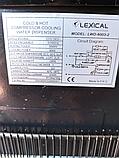 Кулер для води Lexical підлоговий компресорний охолодження/нагрів 550W/90W білий, фото 6