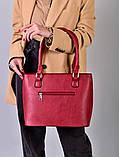 Жіноча бордова сумка з перфорованим малюнком код 7-875, фото 2