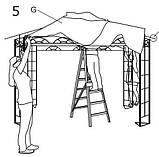 Тканинний павільйон (шатро) дах 3х3м білий (сталевий каркас + вологовідштовхувальний), фото 4
