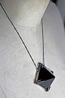 "Серебряный кулон ""Темная пирамида"" с обсидианом от Wickerring"