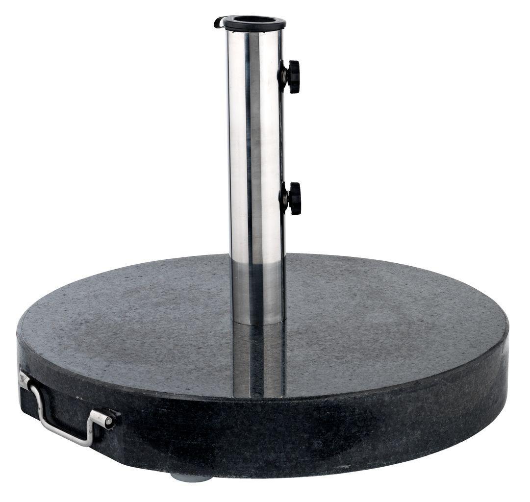 Основа - підставка кругла для садового парасоля 40 кг чорний колір