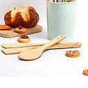 Лопатка кухонні 30х6х0.5см з бамбукового волокна Fissman, фото 5