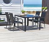 Набор садовой мебели черной (4 стула плетеных петан  и стол 140 см), фото 5