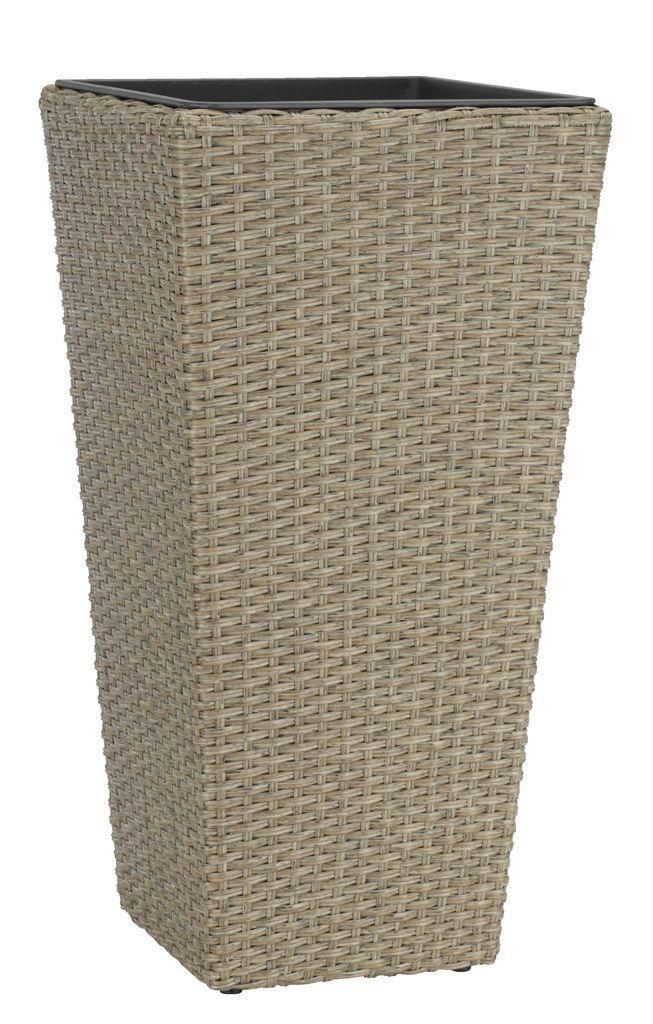 Горщик - вазон підлоговий великий натура (штучний ротанг)