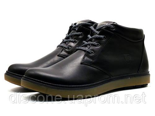 Ботинки зимние H.Denim мужские, черные, кожаные, р. 40