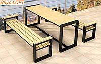 Комплект садовой мебели стол и лавки 2шт. Набор садовой мебели для дачи, частного дома. Садовые скамейки лавки