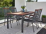 Комплект садових меблів (4 крісла зі сталі і столик Хардвуд 150 см), фото 5