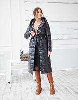 Шикарное стеганое пальто для межсезонья размеры от 48 до 60