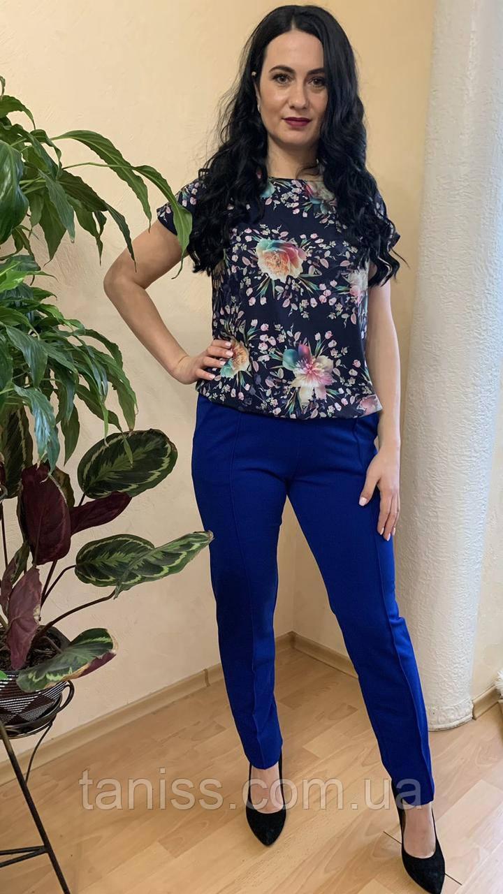 Жіночий стильний,брючний костюм, тканина софт і креп дайвінг, р. 44-46,48-50,52-54,56-58,62-64