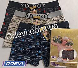 Трусы подросток фирмы SD.BOY хлопок с бамбуком абстракция