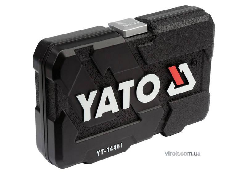 """Набір головок торцевих YATO 1/4"""" М=3.5-14 мм 25 предметів, фото 2"""
