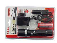 Фонарь светодиодный аккумуляторный c регулировкой размера луча ( 1 LED , 3.6V , 1800mAh , зарядка