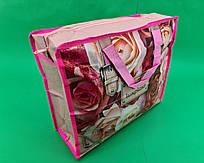 Сумка хозяйственная , полипропиленовая,  с цветным рисунком  №1 Роза (10 шт)