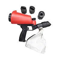 Піскоструминний пістолет з вбудованою ємністю для піску 1л і гумовими насадками (4шт)