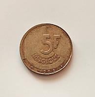 5 франков Бельгия 1992 г., фото 1