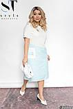 Стильное полосатое платье из легкой натуральной ткани Размеры: 48-50, 52-54, 56-58, 60-62, фото 4