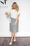 Стильное полосатое платье из легкой натуральной ткани Размеры: 48-50, 52-54, 56-58, 60-62, фото 5