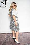 Стильное полосатое платье из легкой натуральной ткани Размеры: 48-50, 52-54, 56-58, 60-62, фото 6