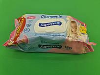 Влажная салфетка 120шт Суперфреш  с клапаном (1 пач)