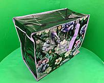Сумка хозяйственная , полипропиленовая,  с цветным рисунком  №4 Цветы (10 шт)