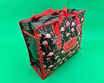 Сумка хозяйственная , полипропиленовая,  с цветным рисунком  №1 Фламинго (10 шт)