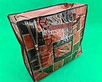 Сумка хозяйственная , полипропиленовая,  с цветным рисунком  №3 Кожа (10 шт)