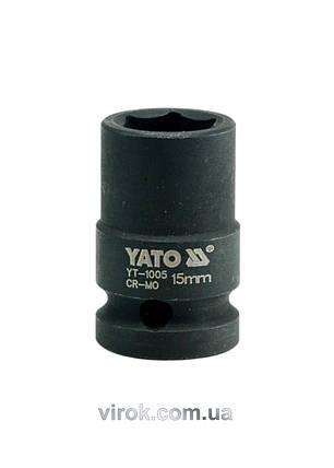 "Головка торцева ударна шестигранна YATO 1/2"" М15 х 39 мм, фото 2"