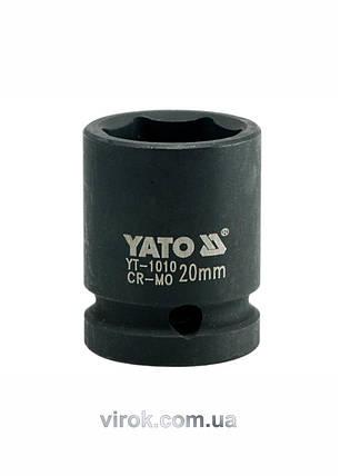 "Головка торцевая ударная шестигранная YATO 1/2"" М20 х 39 мм, фото 2"
