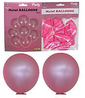 Воздушные шары 1213-2 набор 8шт латексных шаров 30см,металлик розовый уп10