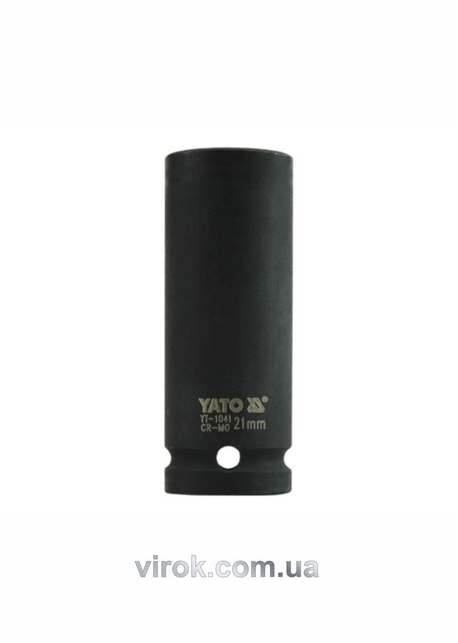 """Головка торцевая ударная шестигранная YATO 1/2"""" М21 х 78 мм"""