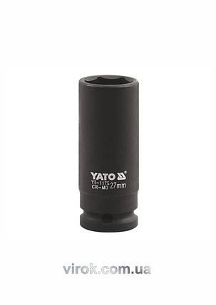 "Головка торцевая ударная шестигранная YATO 1"" М36 х 90 мм, фото 2"