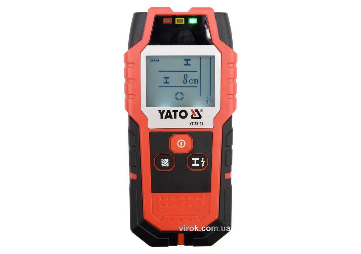 Цифровий Детектор прихованих неоднорідних матеріалів YATO, фото 2