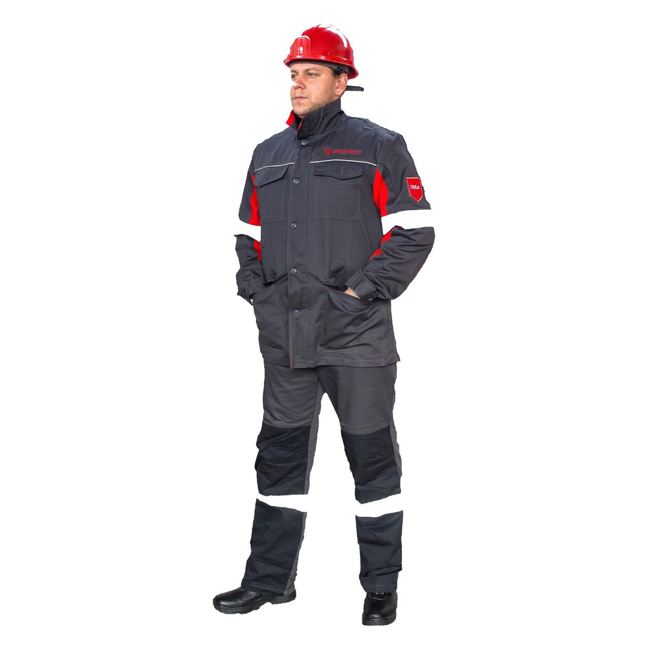 Костюм робочий (куртка і брюки зі світловідбиваючими смугами (Метінвест)