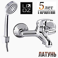 Смеситель для ванны латунный Польша Lidz (CRM) Smart 39 006-3