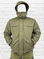 """Чоловіча Зимова Куртка """"Олива Хакі"""" на гумці з капюшоном (фліс)"""