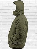 """Чоловіча Зимова Куртка """"Олива Хакі"""" на гумці з капюшоном (фліс), фото 3"""