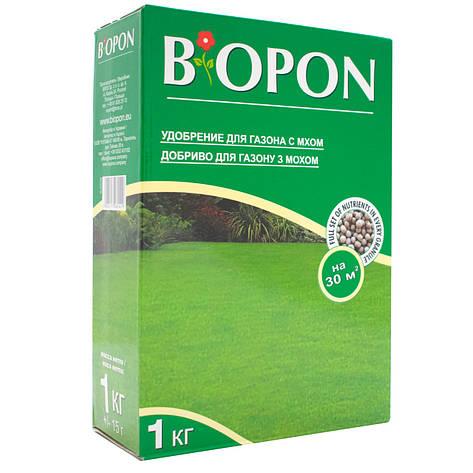 Добриво гранульоване для газонів з мохом 1 кг, BIOPON, фото 2