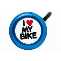 Звонок Green Cycle GCB-1051A-BK I love my bike cтальной синий