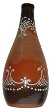 Бутылка глиняная 500 мл с пробкой