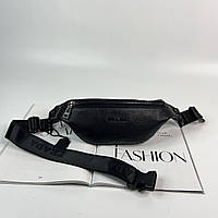 Женская кожаная сумка бананка через плечо и на пояс Prada Прада реплика