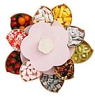 ОПТ Органайзер для сладостей Candy Box 2 яруса Вращающаяся коробка для хранения сладостей и закусок менажница, фото 4