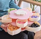 ОПТ Органайзер для сладостей Candy Box 2 яруса Вращающаяся коробка для хранения сладостей и закусок менажница, фото 3