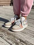 Низькі баскетбольні кросівки Air Jordan  Low 1 Retro  White Beije, фото 3