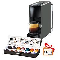 Кофемашина Nespresso Essenza Mini Intense Grey C30 + дегустационный набор в подарок (14